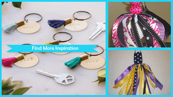 cute ribbon key chains ideas - náhled