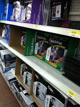 Photo: lots of paper, but still no sharpener. I'll have to try another aisle.
