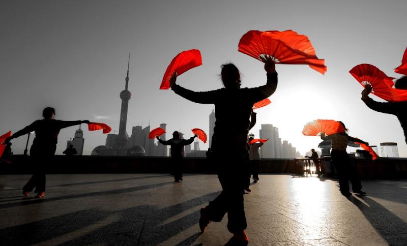 Photo: Tänzer in Shanghai