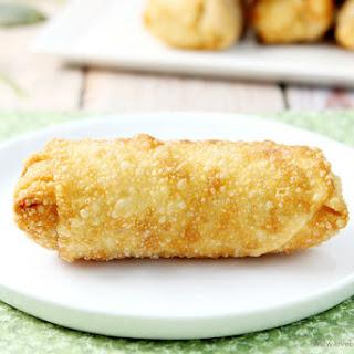 Cheesy Mediterranean Egg Rolls