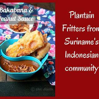 Surinamese Bakabana with Peanut Sauce.