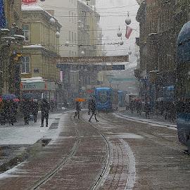 ..... jučerašnji snijeg...... by Katica Pecigoš-Kljuković - City,  Street & Park  Street Scenes