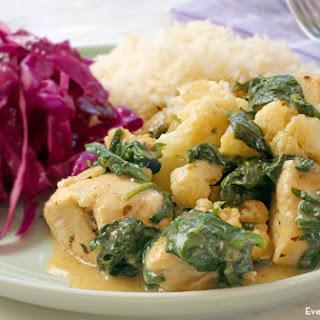 Asiago Chicken with Spinach and Cauliflower
