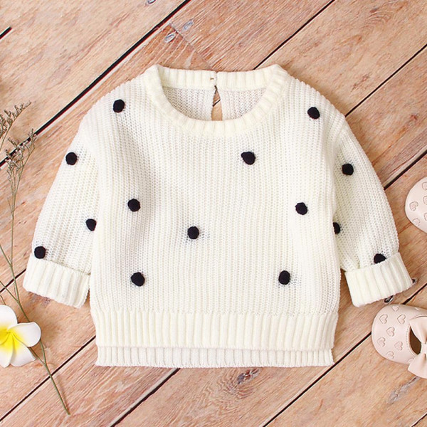 Polka Dot Solid Baby Sweaters