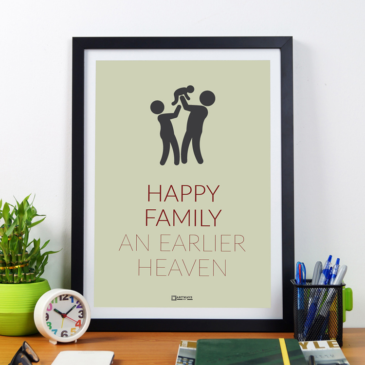 Happy Family An Earlier Heaven | Framed Poster by Artwave Asia