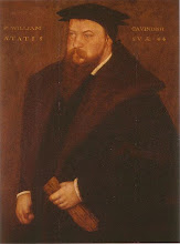 Photo: Sir William Cavendish 1505 - 1557 In 1547 he married Bess of Hardwick. He sold his property in Suffolk and moved to Bess's native county of Derbyshire. He purchased the Chatsworth estate in 1549 and the couple began to build Chatsworth House in 1552. By Levey, Santina M., The Embroideries at Hardwick Hall, National Trust, 200