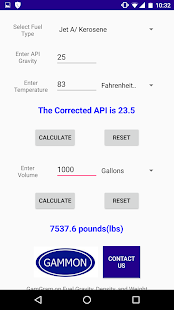 GTP API Gravity Calculator- screenshot thumbnail