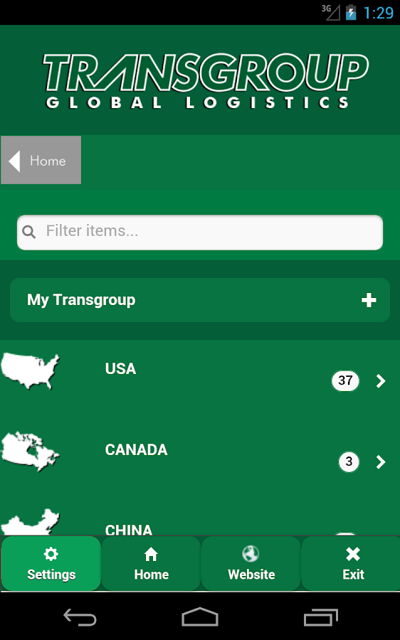 TransGroup Mobile- screenshot