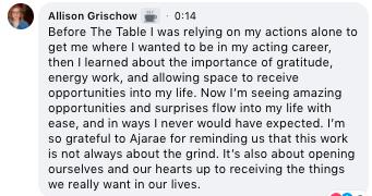 Allison G Testimonial