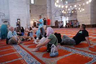 Photo: Suleyman Mosque in the Bazaar Quarter. These are some fellow group members of the tour.