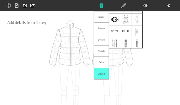 Fashion Design Flat Sketch APK screenshot thumbnail 14