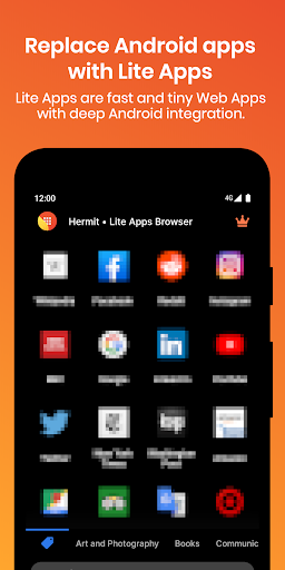 Hermit u2022 Lite Apps Browser 14.1.0 screenshots 1