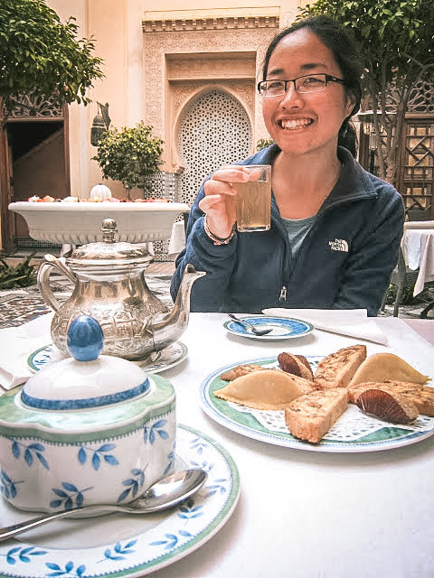 Tea time at the riad