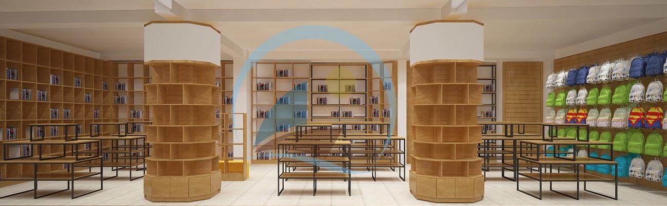 thiết kế nội thất nhà sách Trí Đức 7