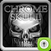 GO Locker Chrome Skull for Lollipop - Android 5.0