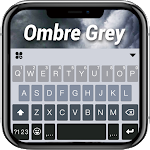 Ombre Grey Keyboard Background icon