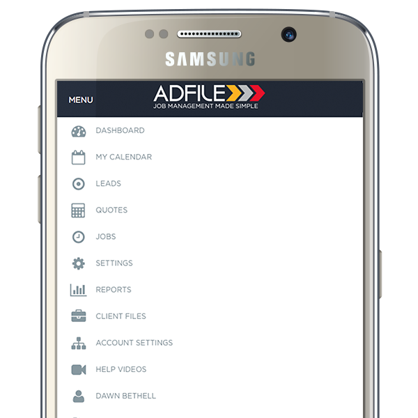 Adfile Job Management System- screenshot