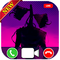 siren head video call & chat simulator prank 2020 icon
