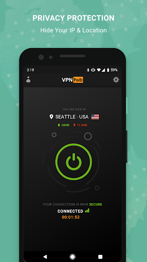 Free VPN - VPNhub for Android: No Logs, No Worries 2.1.4 screenshots 2