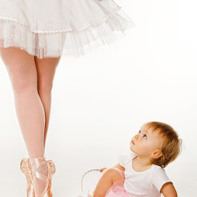 by David Terry - People Fine Art ( studio, child, mother, daughter, toddler, ballerina, portrait )
