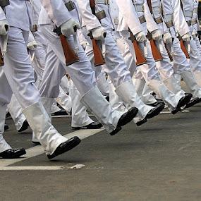 Army on the move. by Debasish Naskar - Professional People Military