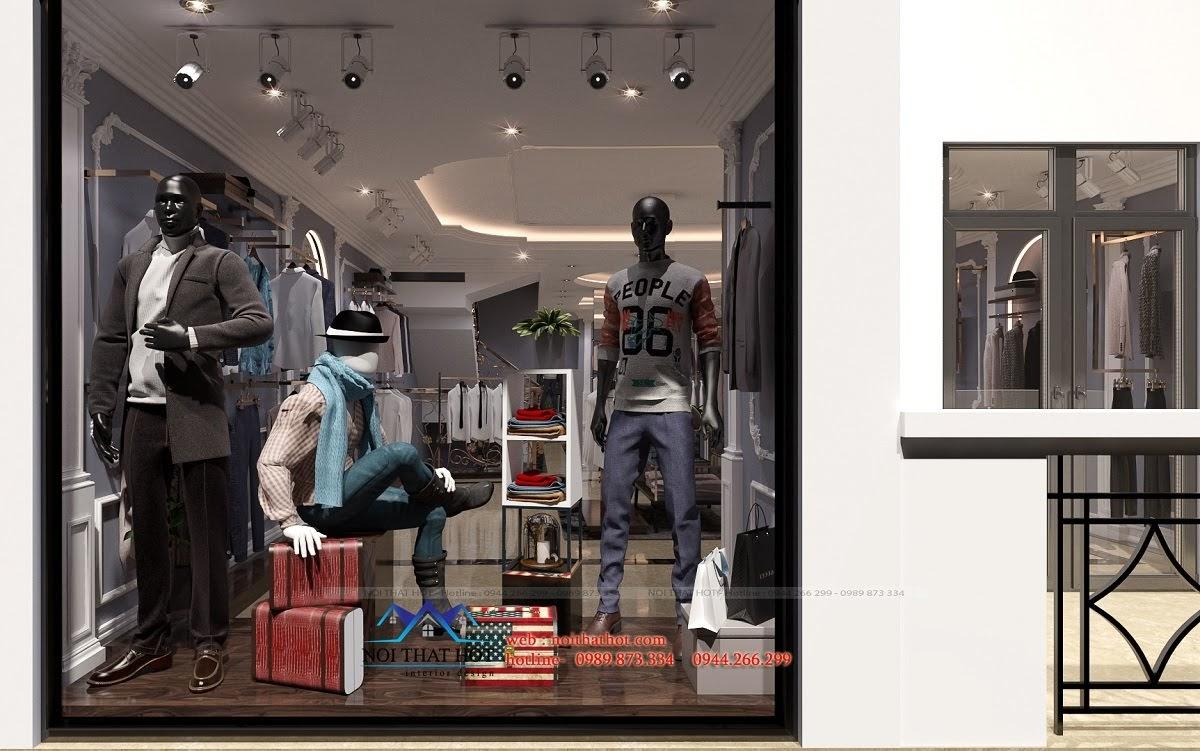 thiết kế shop thời trang sang trọng 14