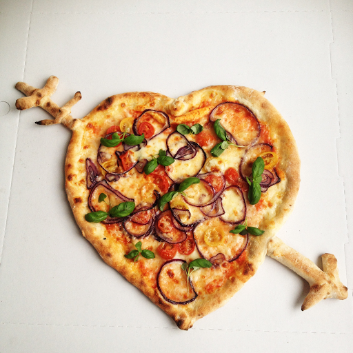 Make your own Valentine's Pizza
