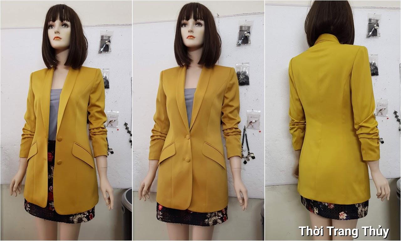 Áo vest nữ vải lụa tay xếp ly V691 thời trang thuỷ hải phòng