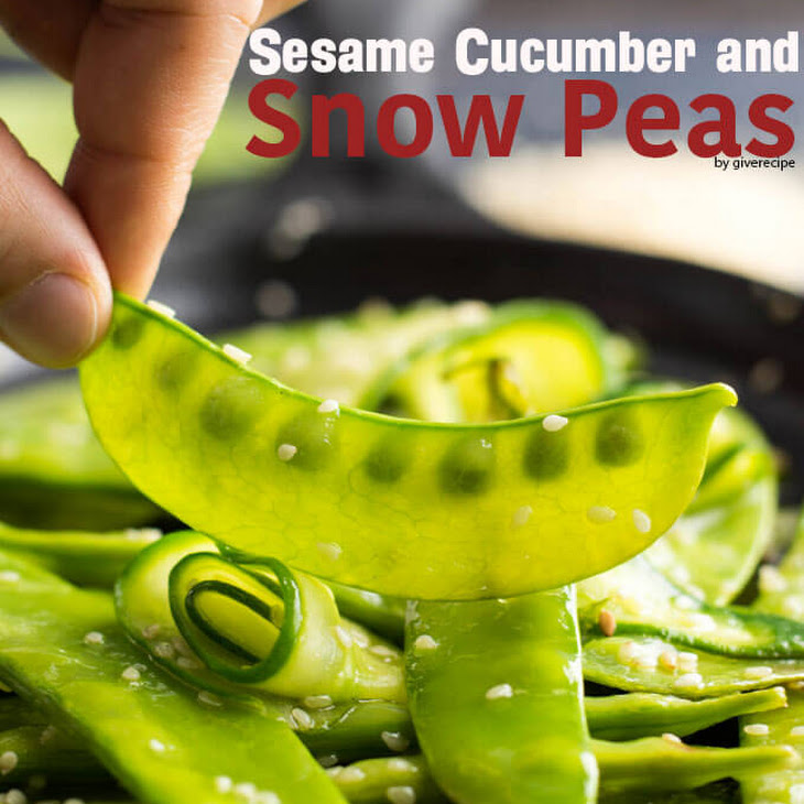 Sesame Cucumber and Snow Peas