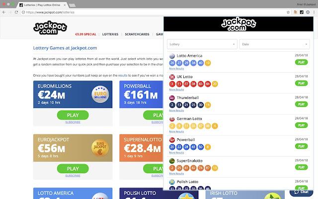 Jackpot.com Lottery Results