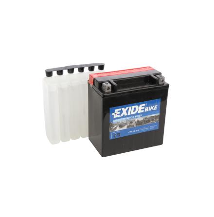 Tudor Exide MC batteri 14Ah AGM YTX16-BS 4974 lxbxh=150X90X1