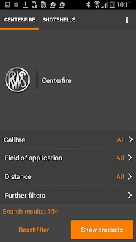 RWS ammo finder for hunters