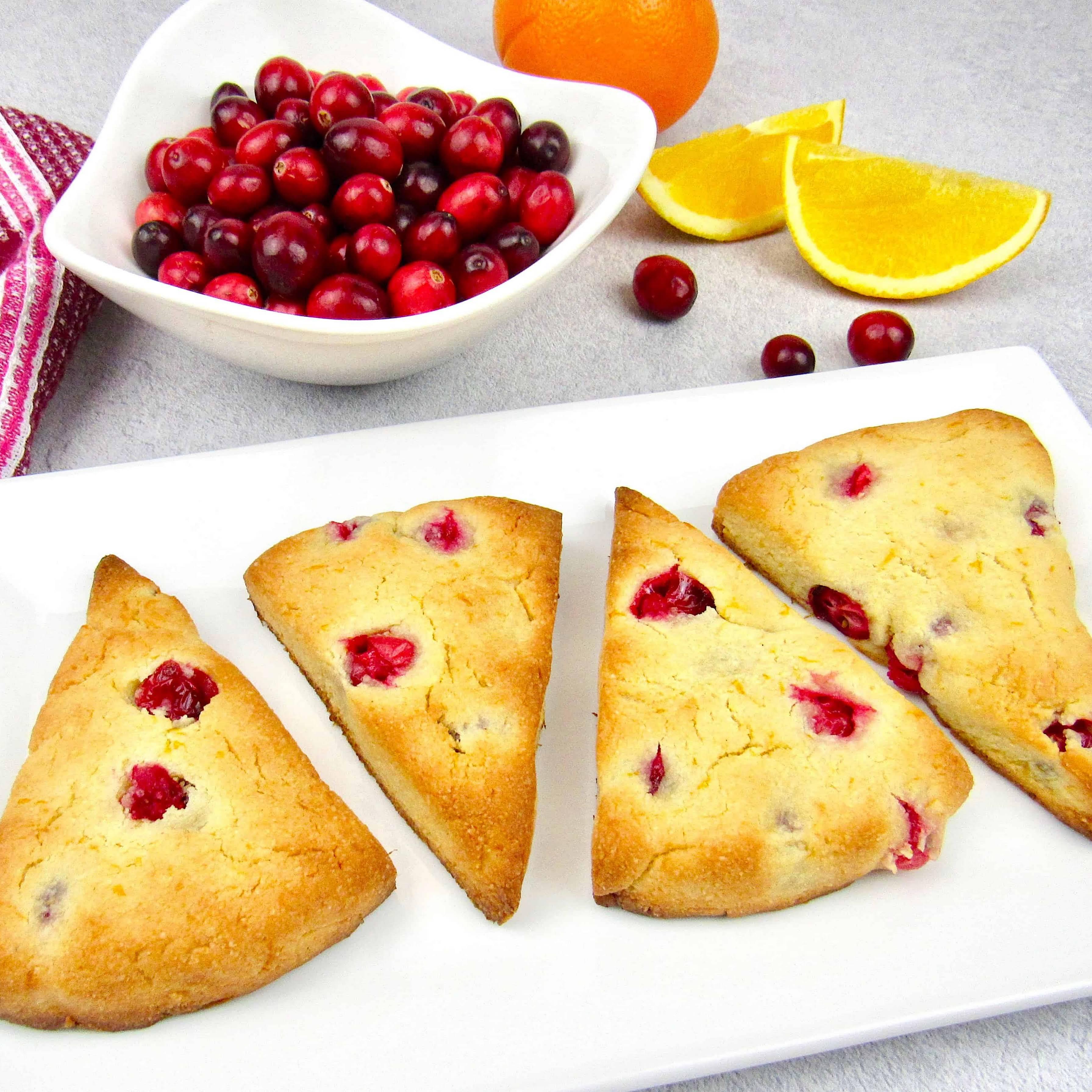 Cranberry Orange Scones - Keto/Low Carb/Gluten & Dairy-Free