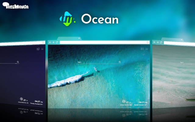 Ocean Backgrounds & New Tab