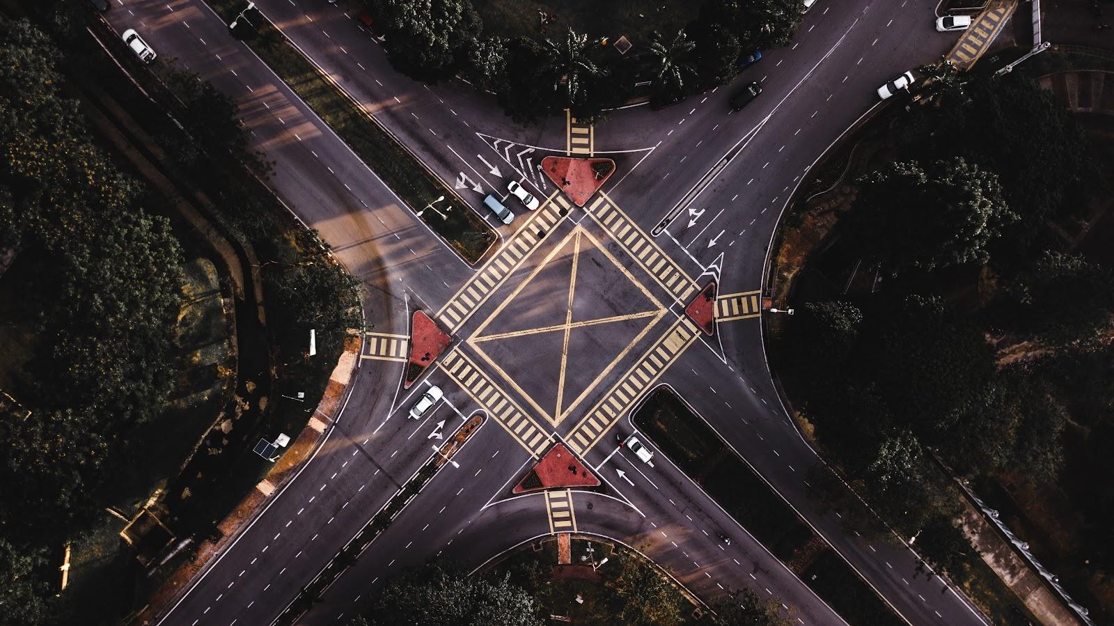 empty crossroads, forest, pipeline, staff management