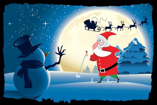 Santa Claus. Papa Make Ringing