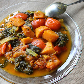 Sweet potato and Swiss chard curry