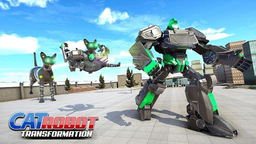 Cat Robot Car Transformation War Robot Games  screenshots 12