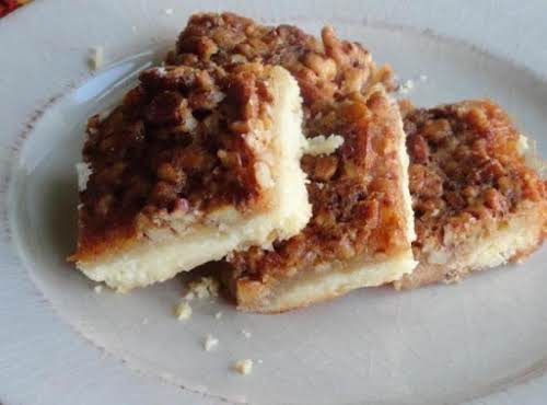 "Pecan Pie Bars ""Easy to make and absolutely delicious. I used a..."