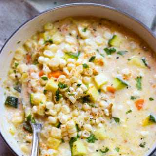 Summer Fresh Corn and Zucchini Chowder