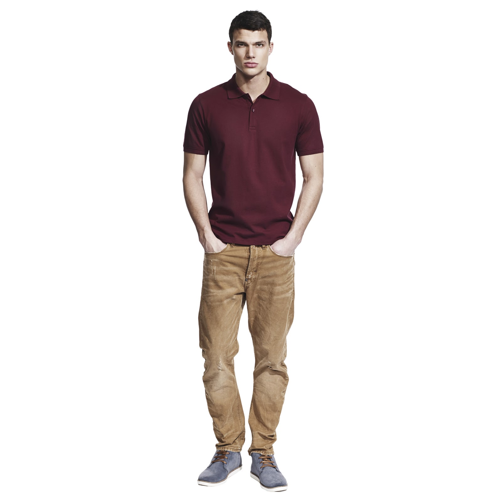 Continental Men's Cotton Polo Shirts - Claret Red