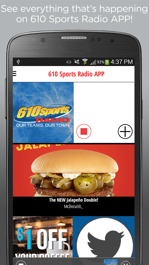 610 Sports Radio APP- screenshot