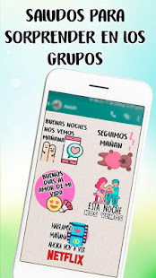 Stickers de saludos en español para WhatsApp - náhled