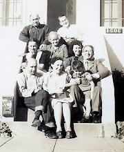 Photo: (T) Arthur Heyman, Mervyn Marks Jr., (M) Bess Heyman, Ernestine Bernstein Heyman, Mynette Heyman Pound, Isidor Heyman, (B) Leo Heyman, Celia Heyman Marks, Clyde Pound