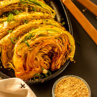 Grilled Cabbage Wedges with a Korean Glaze.
