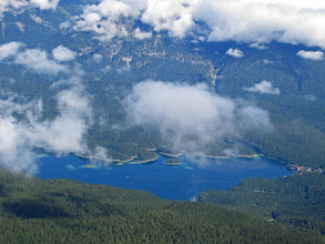 Photo: The Eibsee in Bavaria, North of the Zugspitze