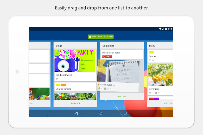 Screenshot 13 for Trello's Android app'