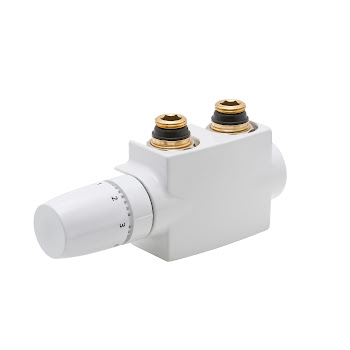 Mittelanschlussgarnitur mit Blende, Weiß