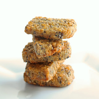 Cheesy Flax & Chia Seed Cracker Bread (Low Carb and Gluten Free)