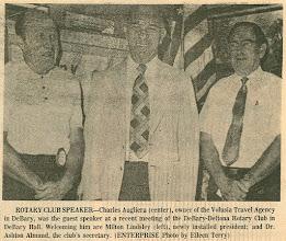 Photo: President Milt Lindsley, Charlie Augliera, Ashton Almand - Thursday, June 28, 1973 DeBary-Deltona Enterprise
